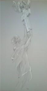 Skica sochy sv. Jana Nepomuckého
