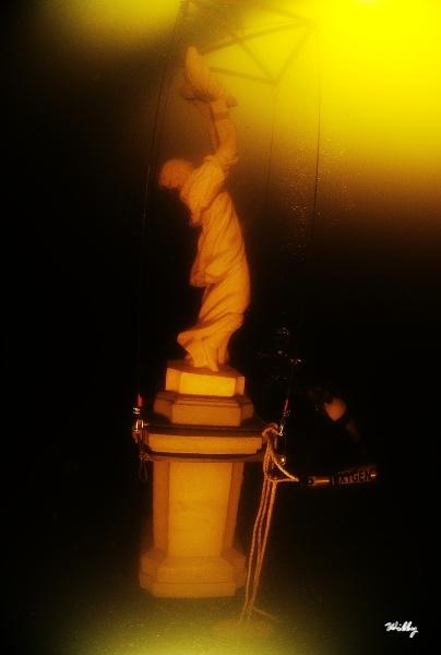 A socha je na svém místě