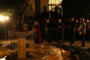svěcení fontány v Římě